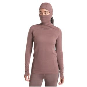 Athleta Flurry Balaclava Rib Mix Solid Long Sleeve